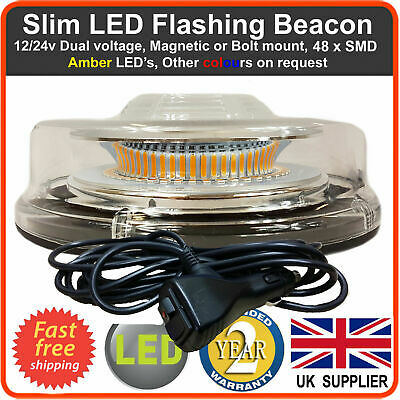 LED BEACON Emergency Recovery Flashing Warning Strobe Lights lightbar Amber