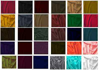 """Silk Velvet Solid Fabric 45""""W Clothing/drapery/dresses 35Color By Yard Free Ship"""