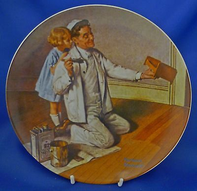 KNOWLES ROCKWELL'S HERITAGE COLLECTOR PLATE - THE PAINTER