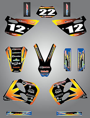 Custom Graphics full Kit  SUNRISE STYLE  stickers to fit KTM SX 1993 - 1997