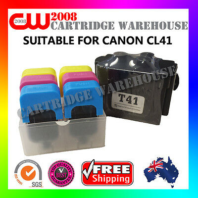DIY Ink Refill 6 Times for CANON CL41 COLOUR GENUINE cartridges