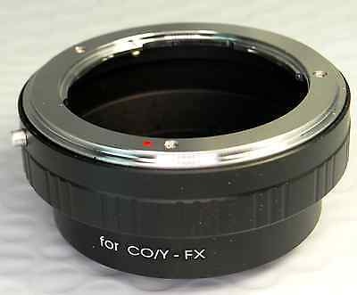 Contax Yashica C/Y Lens Mount to Fujifilm FX Camera Adapter X-Pro1 (with Issues)
