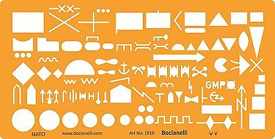 NATO Military Tactical Symbols Map Marking Drawing Drafting Template Stencil