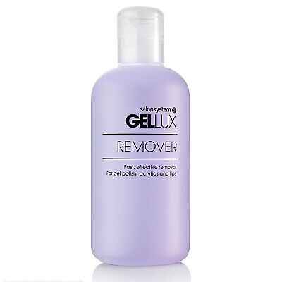 Salon System Gellux Profile Remover Acetone Cleaner UV Gel Nail Cleanser - 250ml