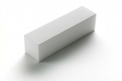 The Edge White Sanding Block Acrylic Nail Buffer 220/240 Grit 4-Way Soft Finish