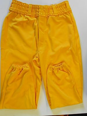 NOS Vintage 80s Spanjian Baseball Pants Adult Size Small Gold Made in USA!