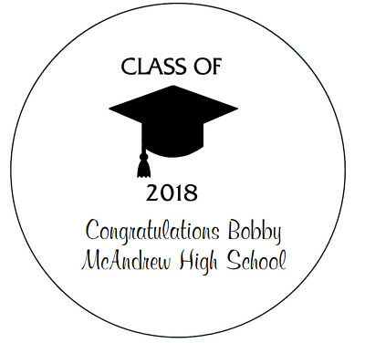 24 Personalized Class of 2019 Graduation Stickers Party Favors