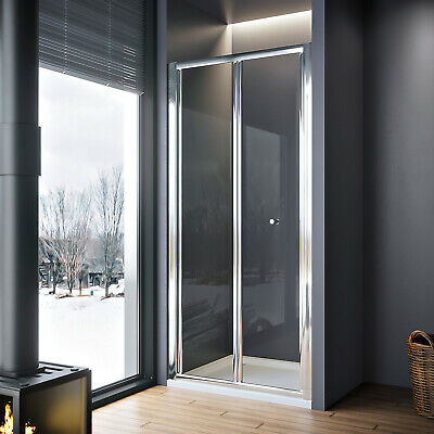Bifold shower door glass screen 700/760/800/860/900/1000mm Adjustable Size