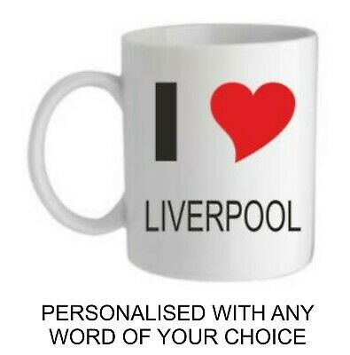 I Love Personalised Football Mug Cup Any Team Dad Husband Christmas Gift For Him