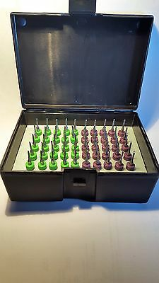 50 Piece Usa Made Carbide Router Diamond Cut Flute Bits Variety Pack-5