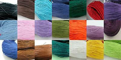 BUY 2 Get another FREE - 10m Waxed Cotton Cord- SHAMBALLA, MACRAME, THONG 1mm