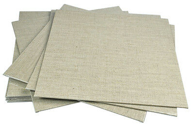 Pebeo Natural Linen Art & Craft Canvas Board - Square 30 x 30cm Size