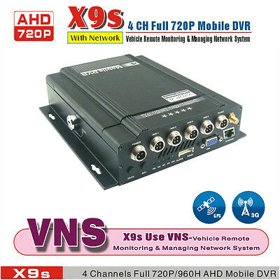 720P 4 Channel H.264 Car DVR Kit and Vehicle Truck Video Recorder DVR + GPS, 3G