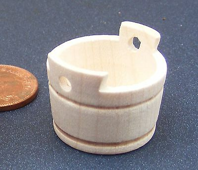 1:12 Scale Empty Wooden Tub 38 Tumdee Dolls House Miniature Garden Accessory BM4