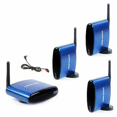 PAT-530 Wireless AV TV Audio Video Sender Transmitter 3 Receiver + IR Remoter UK