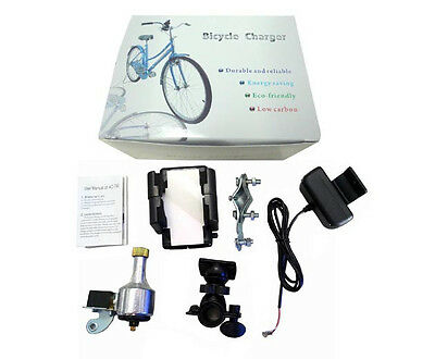 Bike Charger Cycling Dynamo Generator with Holder for Phones GPS MP3 New Energy