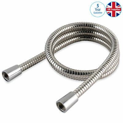 SUPERLUX FULL FLOW BATHROOM SHOWER HOSE PIPE 2 MTR CHROME METAL NEW 11mm BORE