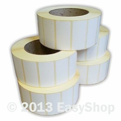 50mm x 25mm White Thermal Direct Zebra Printer Labels 2000 Per Roll 76mm Core