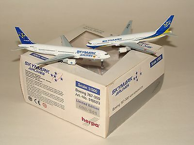 510523 1:500 Herpa Wings Skymark Airlines B767-300 Set free shipping