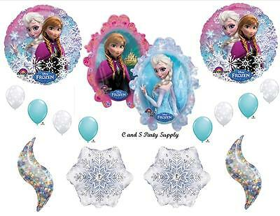 FROZEN HOLOGRAPHIC BIRTHDAY PARTY BALLOONS Decorations Supplies Disney Snowflake