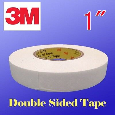 "3M Heavy Duty Double Sided Banner Hem Tape 1""x 165' 55 Yards Brand Clear Bonding"