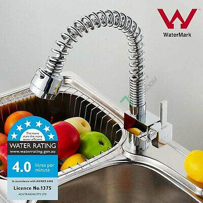 Brass Kitchen Laundry Sink Swivel Pull Out Spout Mixer Tap Pre Rinse Faucet WELS
