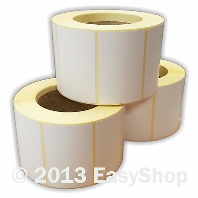 76mm x 50mm White Thermal Direct Zebra Printer Labels 1000 Per Roll 76mm Core