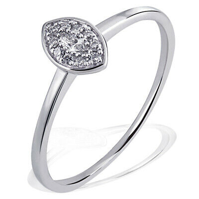Goldmaid Ring Glamour 585 Weißgold 10 Brillanten 0,05 ct. SI/H 1 Diamant 0,06 ct