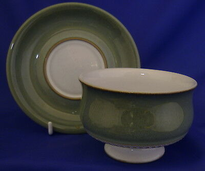 A Denby 'Venice' Footed Soup Bowl And Saucer