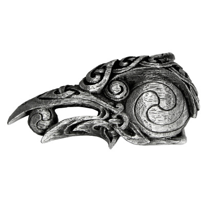 Pewter Celtic Knot Raven Belt Buckle - Dryad Design Crow Bird - Made in the USA