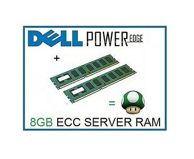 8GB (2x4GB) Memory Ram Upgrade for Dell Poweredge R805, T300 and T605 Server