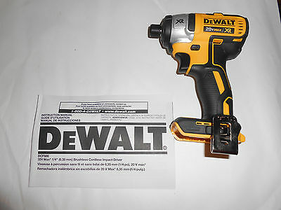 "NEW DeWalt DCF886 20V Max 1/4"" Brushless Impact Driver Cordless XR"