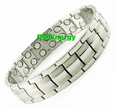 Magnet Magnetic TITANIUM steel Energy Power Bracelet Health Bio Men's UNISEX