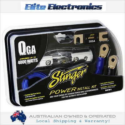 STINGER SK101 1/0 GAUGE 4000W AMPLIFIER INSTALL WIRING POWER ACCESSORY KIT AMP