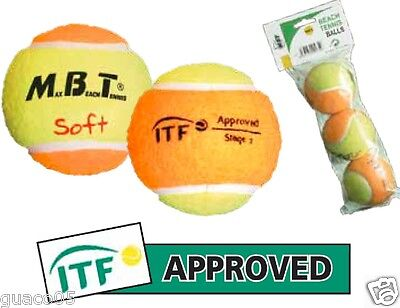 Palline Spft Beach Tennis MBT ITF APPROVED  2014/15  Conf. 3 palline