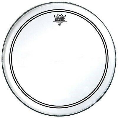 "REMO   Powerstroke 3 P3-0314-BP Pelle Rullante/Tom Clear 14"" Trasparente"