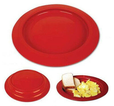 Inner-Lip Plate - Red - Sold Individually