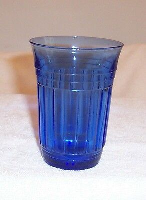 """New Century Cobalt Blue 4 1/4"""" - 9 Ounce Tumbler With Recessed Bottom"""