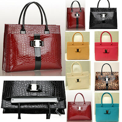 Office Lady Formal Handbags Shoulder Bag Tote crocodile 11 Style New briefcases
