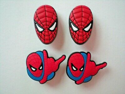 s Shoe Charm Plug Buttons Fit WristBands Bracelet Belts 4 SPIDERMAN