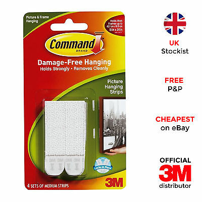 3M Command Picture Poster Frame Hanging Strips for Damage Free Hanging - Medium