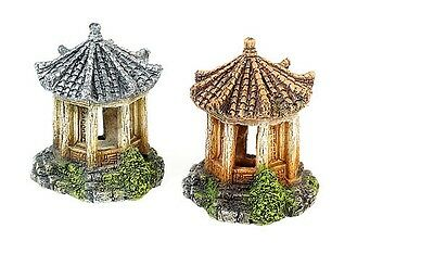 Classic Asian Temple Aquarium Decoration Fish Tank Ornament choice of 2 Colours