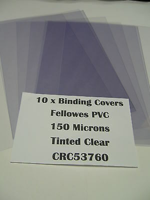 Tinted Clear Binding Covers Pack 10 A4 150 Microns CRC53760 Report Transparent