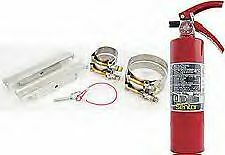 Fire Extinguisher 2.5 lb with Roll Cage Bar Billet Aluminum Mounting Bracket