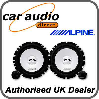 "ALPINE SXE-1750S 6.5"" 16.5cm Car Audio Component 2Way Speakers Set 280W Tweeters"