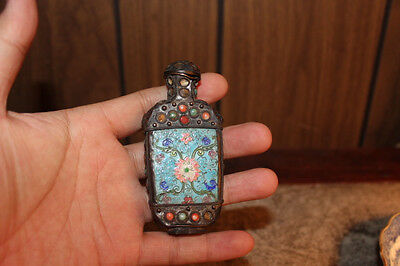 Vintage Chinese cloisnne snuff bottle