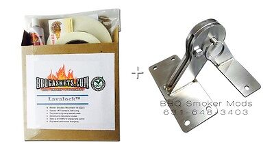 Weber Smokey Mountain Lid Hinge & Gasket Mod Parts Kit - fits all WSM smokers