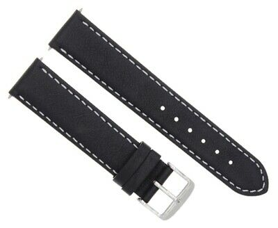 24Mm Smooth Leather Watch Band Strap For 44Mm Panerai Marina Luminor Radiomir Bl