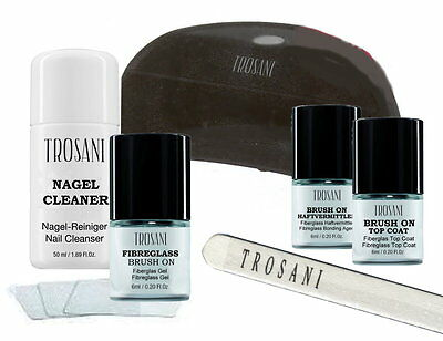 Trosani FIBERGLAS BRUSH ON GEL STARTER KIT Set  Fibreglass Naturnagelverstärkung