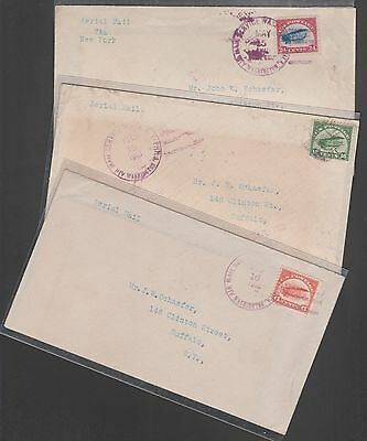 #c1-C3 First Trip Flight Covers --Matched Set Of 3 Serviced By Coleman Wl6062